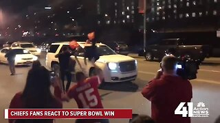 Chiefs fans celebrate team's 1st Super Bowl win in 50 years