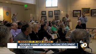 Point Loma residents upset about planned housing development