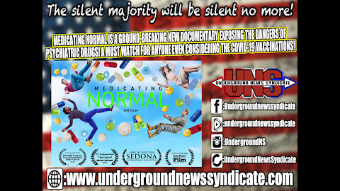 MEDICATING NORMAL IS A NEW DOCUMENTARY EXPOSING THE DANGERS OF THE BIG PHARMACEUTICAL COMPANIES!