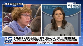 Sarah Sanders Has A Special Message For The Media About Trump's 'Fake News' Awards - Video