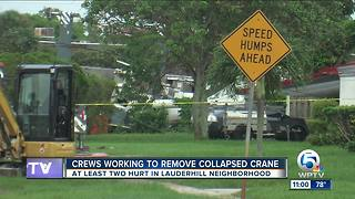 Families in Lauderhill without water after crane collapses on two homes
