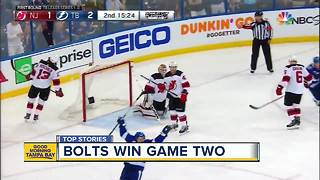 Tampa Bay Lightning win game 2 against Devils - Video