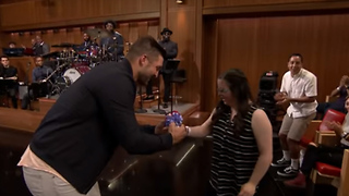 Tim Tebow SURPRISES Fan Who Asked Him to Prom on 'The Tonight Show' - Video