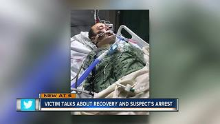 Victim talks about recovery and suspect's arrest - Video