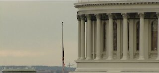 U.S. Capitol flag flies at half-staff for fall officer