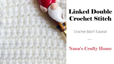 Linked Double Crochet Stitch Tutorial