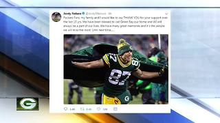 Jordy Nelson tweets goodbye to Packers fans - Video