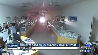 Longmont smash and grab robbery - Video