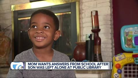 Metro Detroit mother angry after son's preschool leaves him at the library