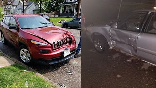 Cars Hit in Canton