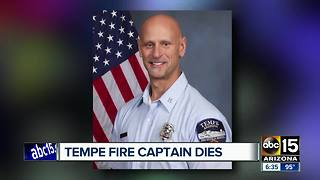 Tempe Fire Department captain dies while on vacation - Video