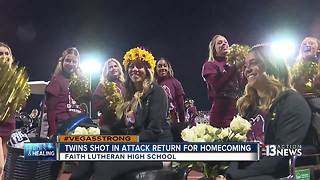 Twins shot in attack return to Faith Lutheran HS for homecoming