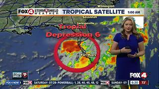 Tropical Depression Six forms in the Gulf odf Mexico - 6:15 am update - Video