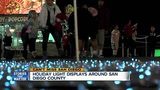 Holiday light displays around San Diego County - Video