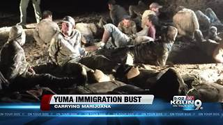 Border Patrol: 20 men caught with marijuana - Video