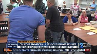 Provisional ballots counted as election results sought by week's end - Video
