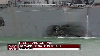 Some remains found on USS John McCain - Video