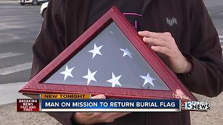 Potential military burial flag found in middle of road - Video