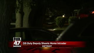 Police say deputy fatally shot intruder at her Detroit home - Video