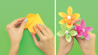 DIY Turn a post-it into a decorative flower - Video