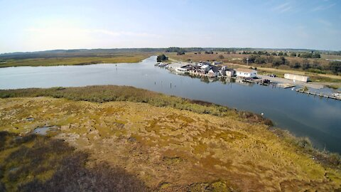 Shorters Wharf/Toddville, MD w/Typhoon H - (Aerial)
