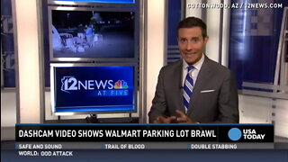 Video captures chaotic brawl in Walmart parking lot.mp4