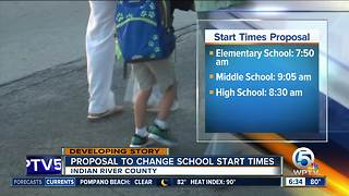 Indian River County ponders changing school start times next year - Video