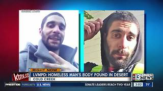 Homeless man's body found in desert - Video