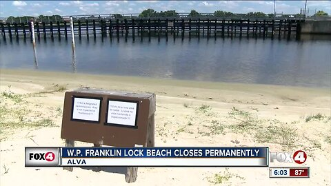 Beach at Franklin Lock gets permanently shut down