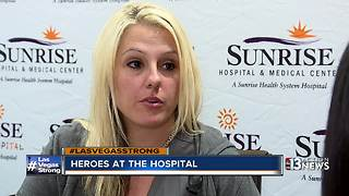 Hospital staff talks about helping shooting victims - Video