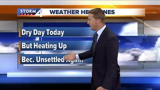 Temps to approach 90 degrees Thursday - Video