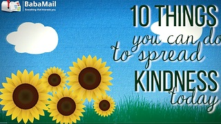10 Things You Can Do to Spread Kindness! - Video
