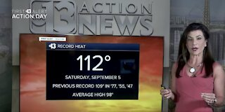 Record-breaking heat for Sept. 5, 2020