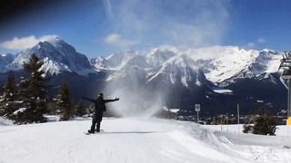 Snowboarder Rides Through Rare 'Snow-Nado' in Lake Louise - Video