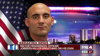 Officer Adam Jobbers-Miller is now breathing on his own - Video