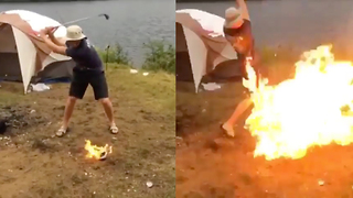 Kids Hitting Golf Balls on Fire Goes HORRIBLY Wrong - Video