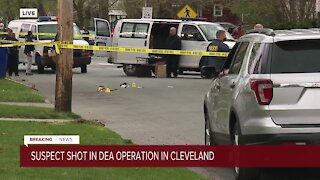 Suspect shot during DEA enforcement operation in Cleveland