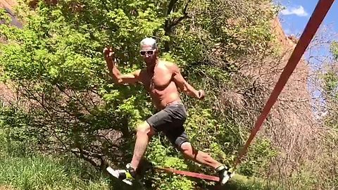 Watch: Silky slackline dancer shows off skills