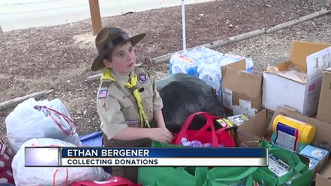Local boy organizes donation drive to help people affected by floods in Oregon