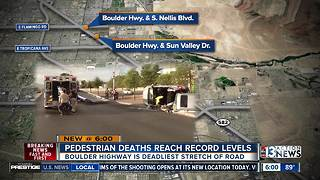Clark County Pedestrian Deaths Reach Record High, again - Video