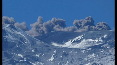 Smoke Rises From Mount Etna as Explosive Activity Reported