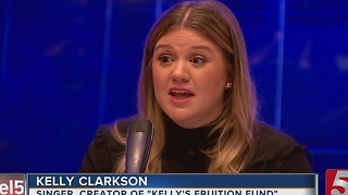 Kelly Clarkson Talks About Benefit Concert - Video