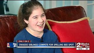 Siblings compete for spot at Scripps Green Country Regional Spelling Bee - Video