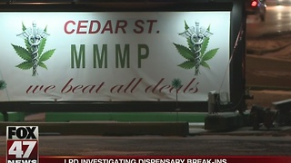 Early morning break-ins at medical marijuana dispensaries in Lansing - Video