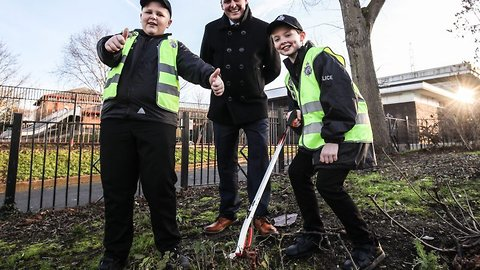It's a fair cop! Mini police officers on the beat keep order on streets