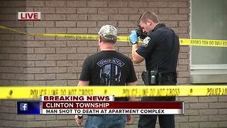Man found shot to death inside Clinton Township apartment - Video
