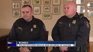 Two Romeo Police officers credited with saving man from himself