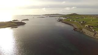 Aerial view unveils Irish hidden jewel - Video