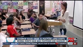 Governor issues order to postpone large events