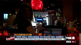 VFW hall refusing to show NFL Games - Video